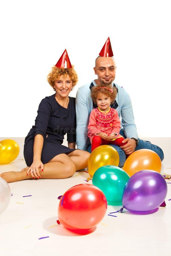 Partijfamilie royalty-vrije stock afbeeldingen