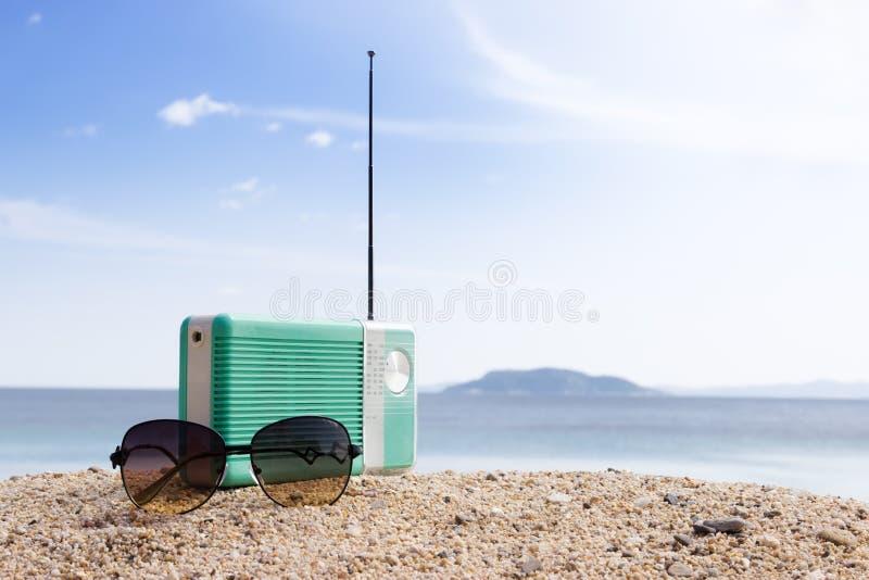 Partijtijd op het strand stock foto's