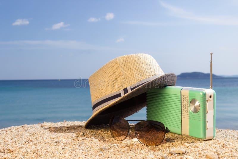 Partijtijd op het strand royalty-vrije stock foto