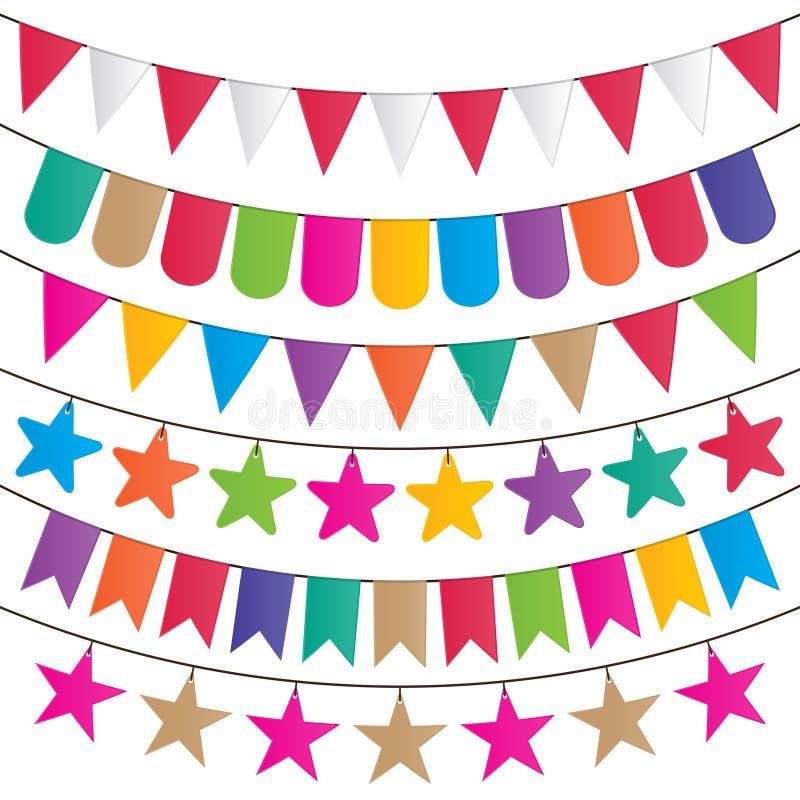 Partijvlaggen vector illustratie