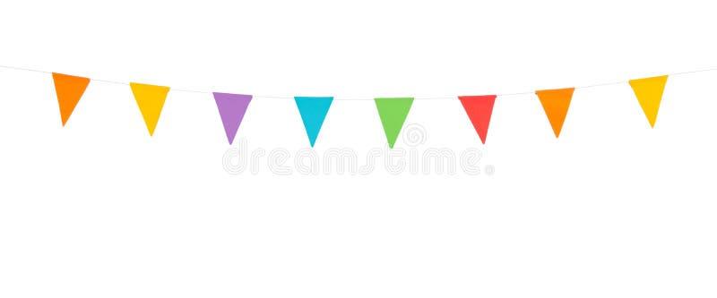 Partijvlaggen op een witte achtergrond worden geïsoleerd die vector illustratie