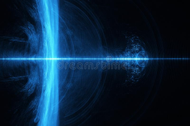 Partikel fließen oder Strom des Lichtes, abstrakter Hintergrund stock abbildung
