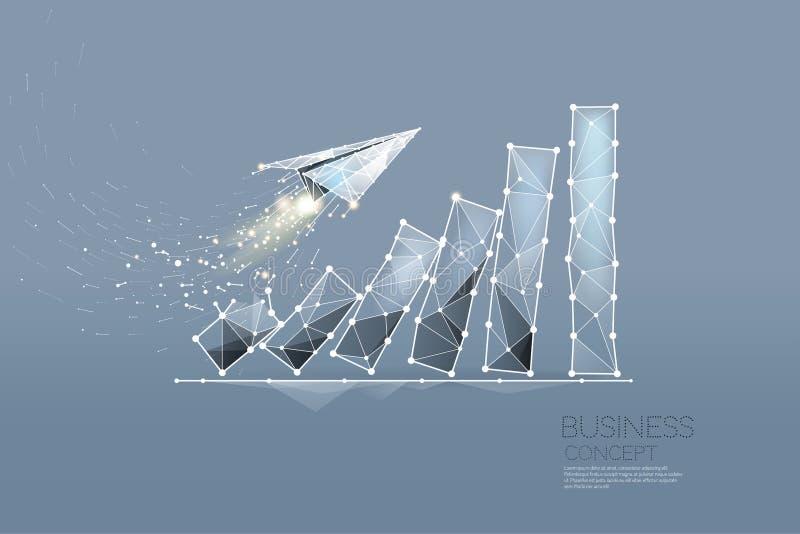 Partiklarna, den geometriska konsten, linjen och pricken av affärsgrafen stock illustrationer