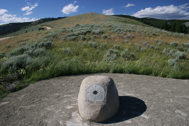 Partilha continental de Montana da passagem de Lemhi fotografia de stock