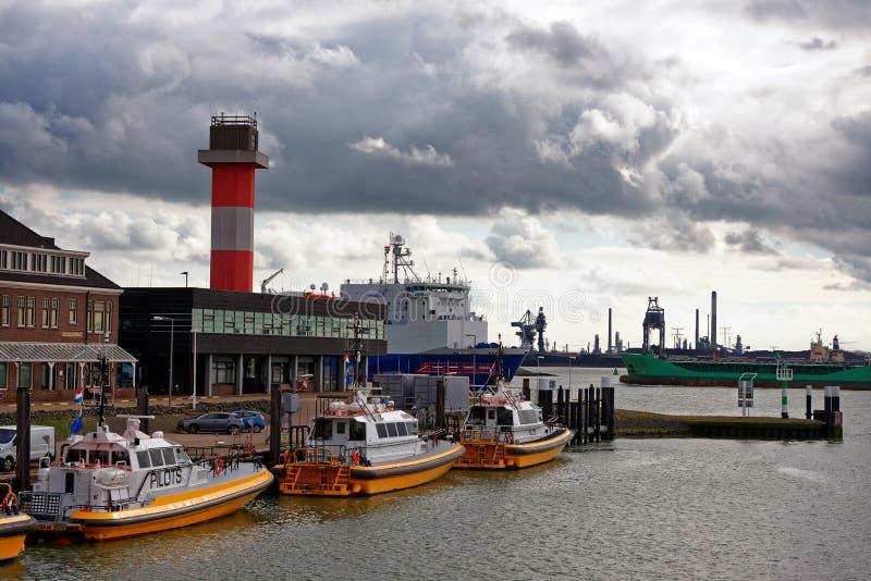 Partir de bateau pilote photos libres de droits