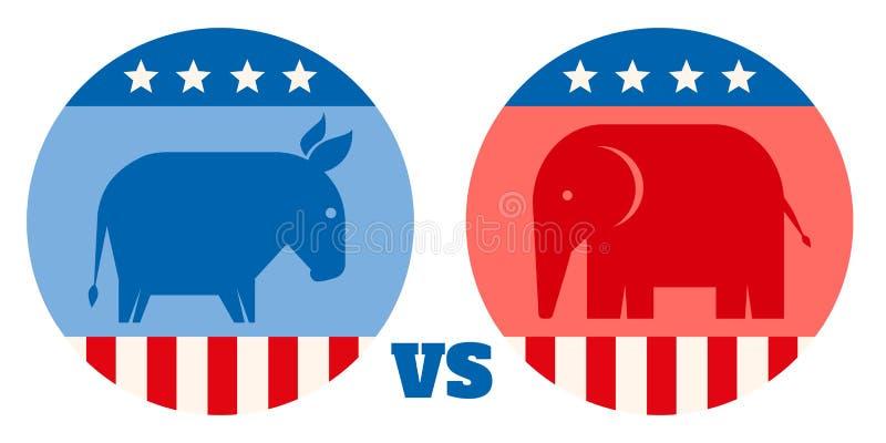 Partis politiques américains illustration de vecteur