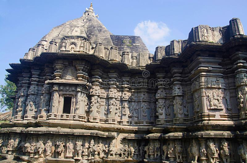 Partisk sikt av den Kopeshwar templet, Khidrapur, Maharashtra royaltyfri foto