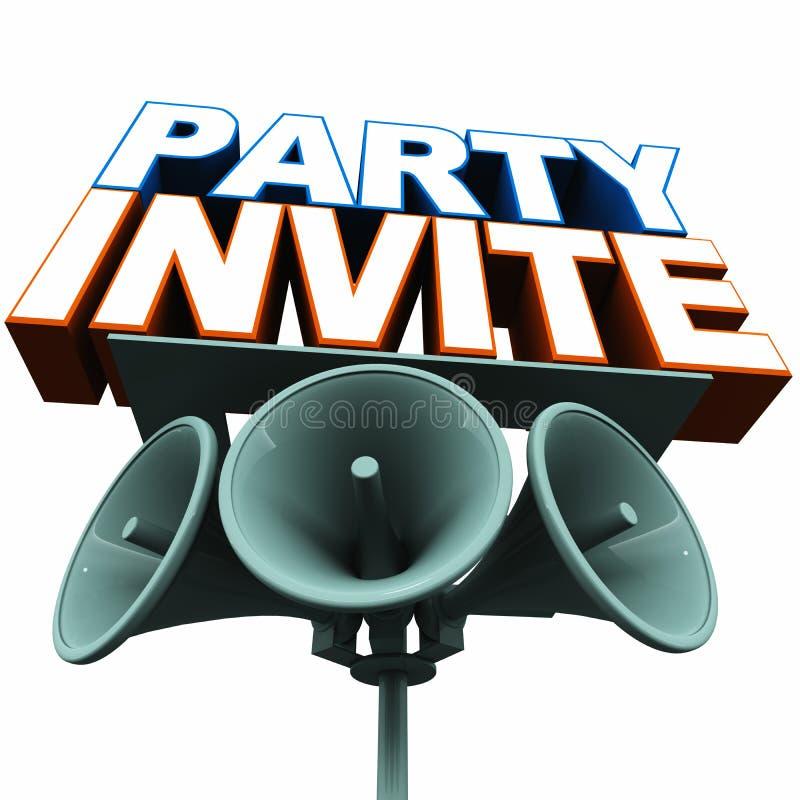 Partit inviterar stock illustrationer