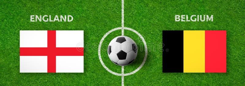 Partita di calcio Inghilterra contro belgium fotografie stock