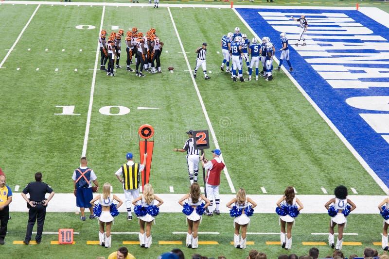 Partita di football americano del Colts-Bengals fotografia stock libera da diritti