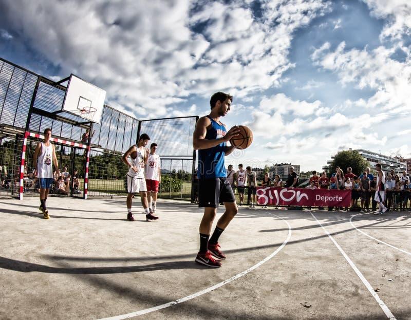 partita di pallacanestro 3x3 fotografie stock libere da diritti