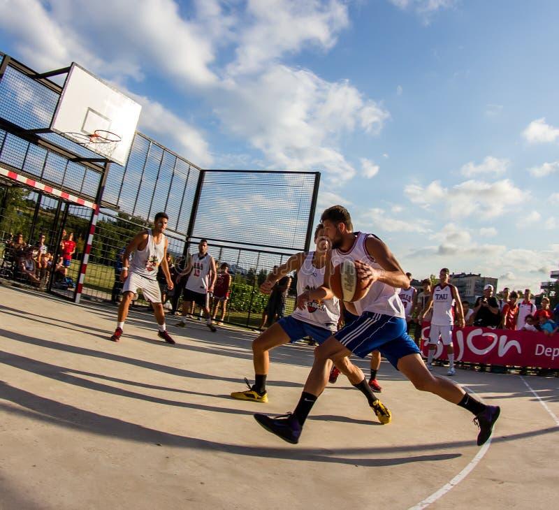 partita di pallacanestro 3x3 immagine stock libera da diritti