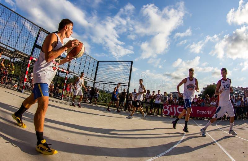 partita di pallacanestro 3x3 immagini stock