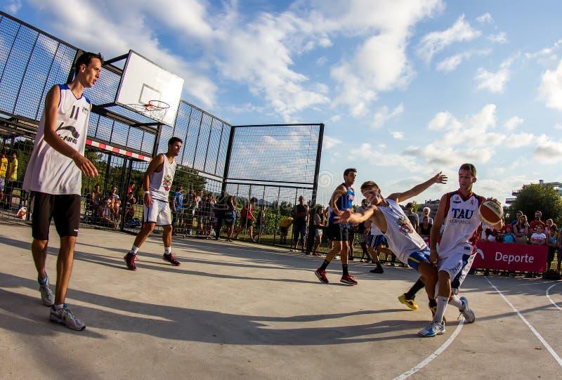 partita di pallacanestro 3x3 fotografia stock libera da diritti