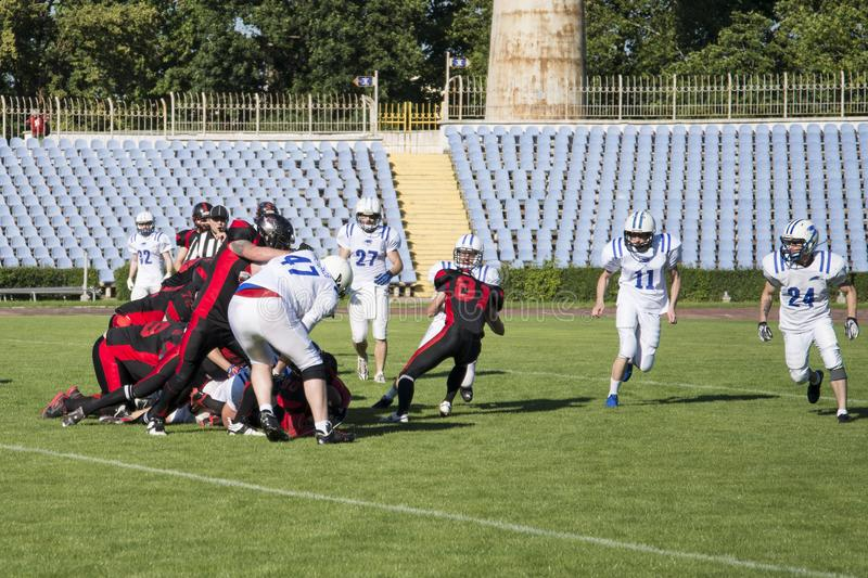Partita su football americano fotografie stock