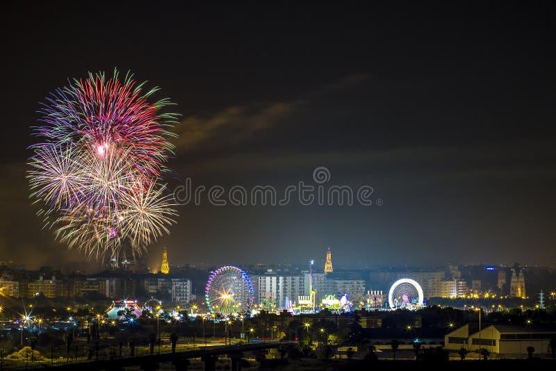 Partiti dei fuochi d'artificio fotografie stock libere da diritti