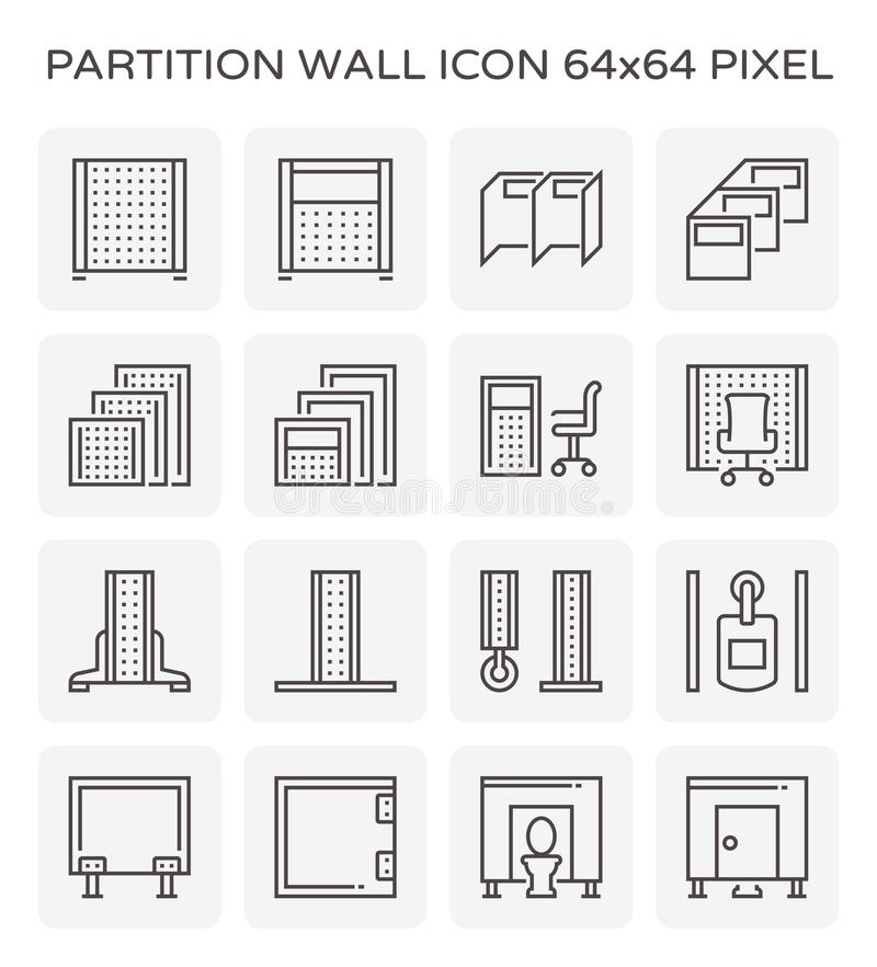 Free Partition Wall Icon Stock Photos - 122722233