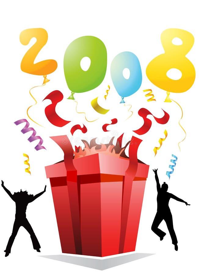 Download Partito 2008 del regalo illustrazione vettoriale. Illustrazione di anno - 3878024