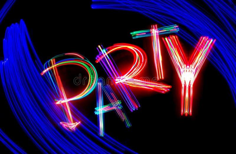 Partito al neon fotografie stock libere da diritti