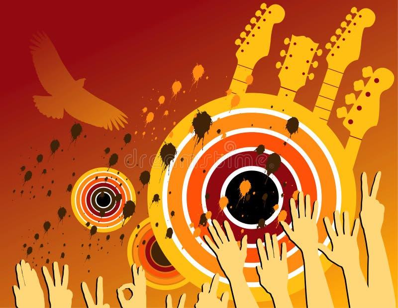 Partito astratto di musica di Grunge illustrazione di stock
