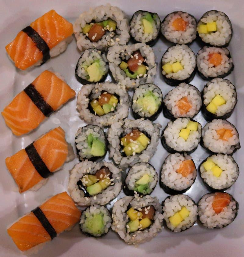 Partito casalingo dei sushi del Giappone fotografia stock libera da diritti
