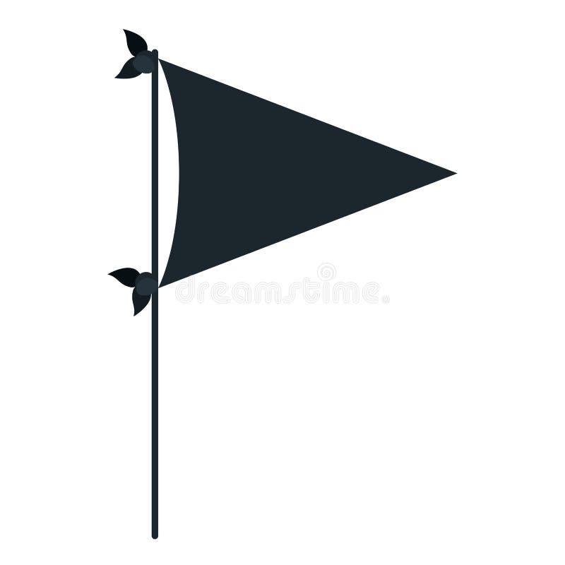 Partito decorativo della bandiera della siluetta nera di colore per la celebrazione royalty illustrazione gratis