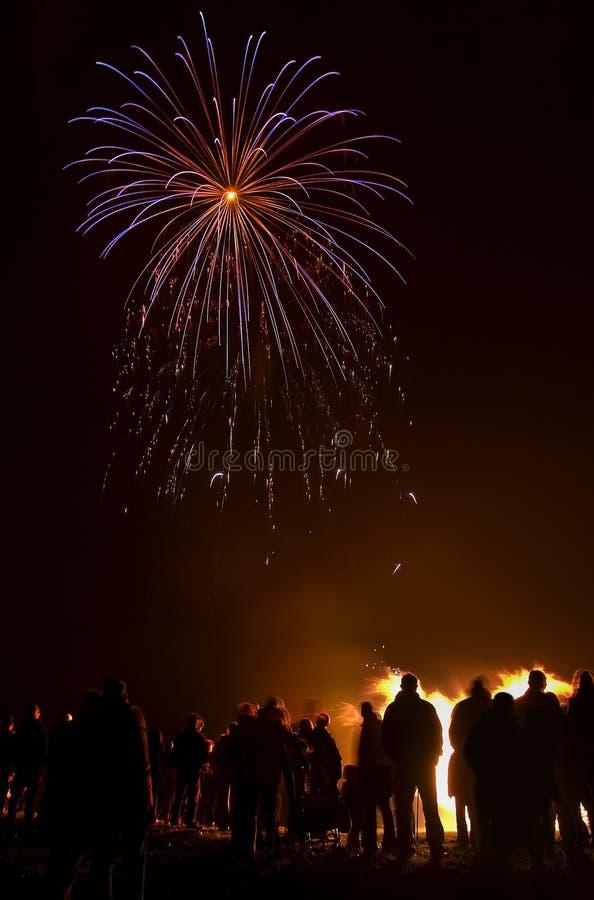 Partito dei fuochi d'artificio fotografia stock libera da diritti