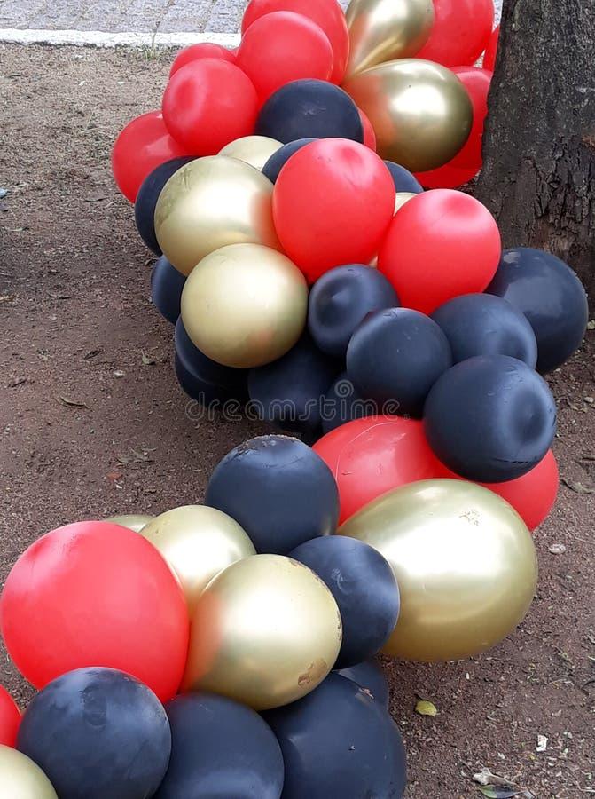 partito dei palloni, estremità del partito fotografie stock
