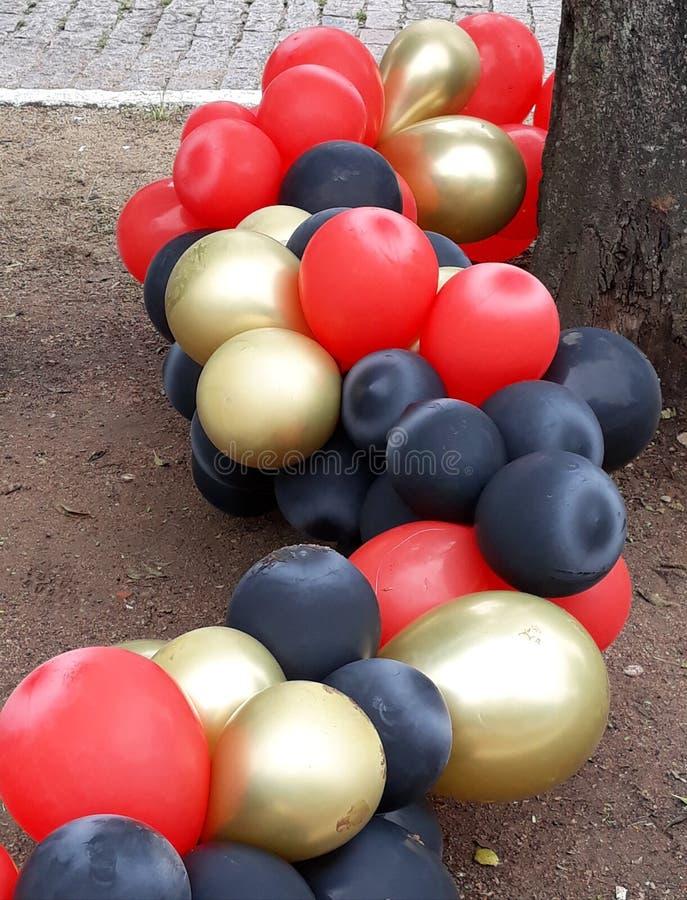 partito dei palloni, estremit? del partito fotografia stock