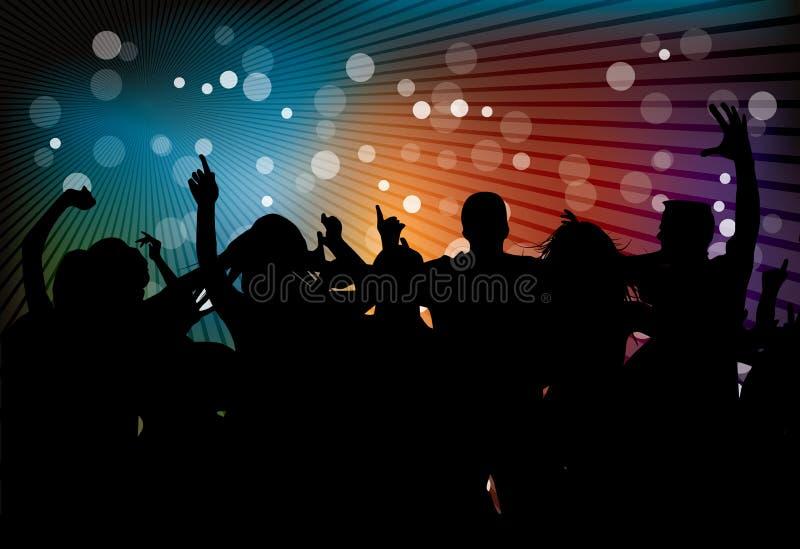 Partito del randello con la gente di dancing royalty illustrazione gratis