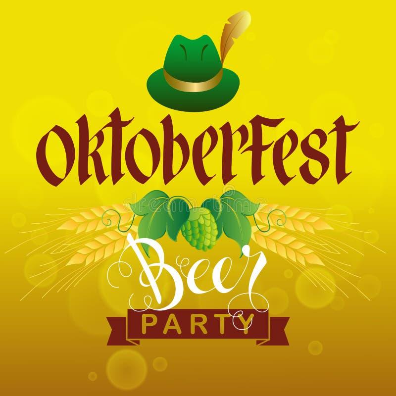 Partito della birra di Oktoberfest royalty illustrazione gratis