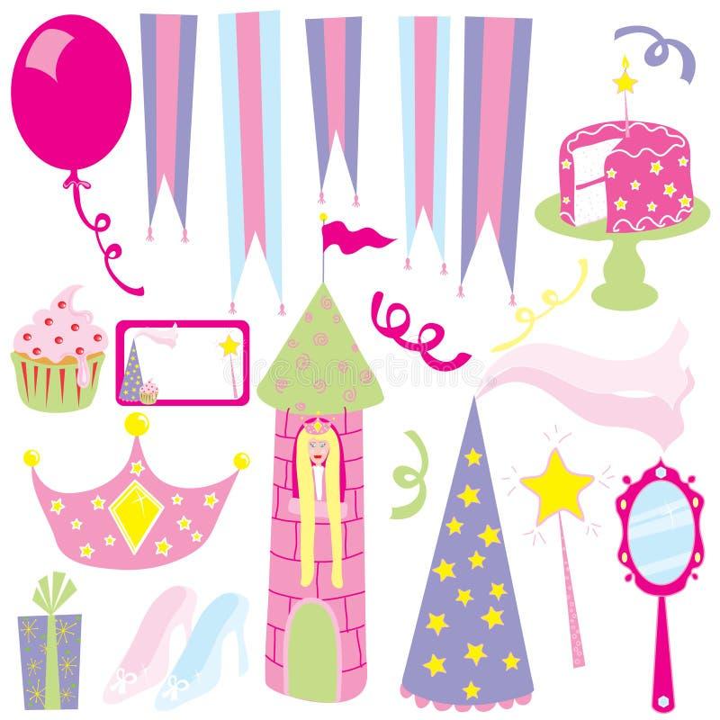 Partito della principessa della ragazza illustrazione di stock