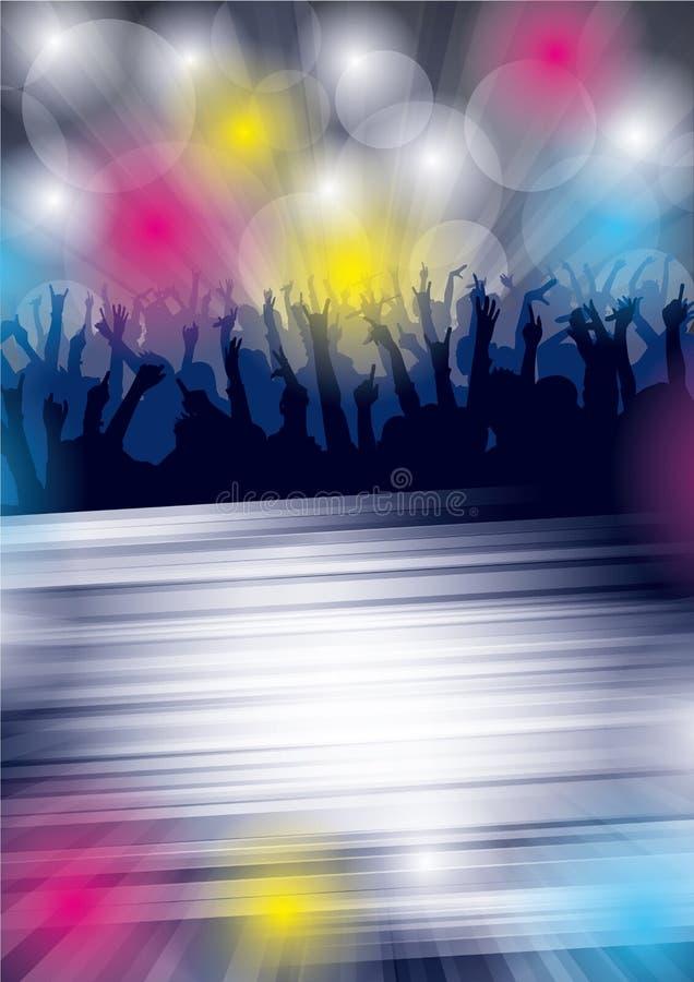 Partito di ballo Flayer illustrazione di stock
