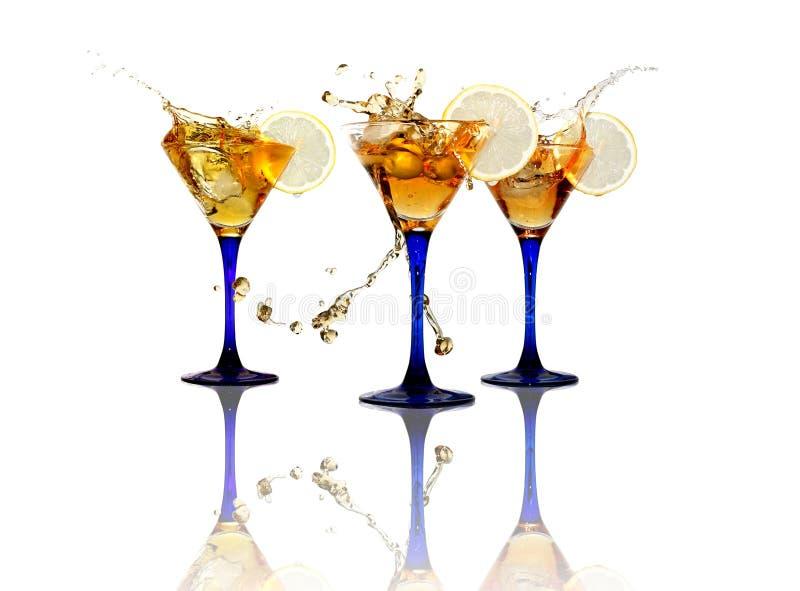 Partito di cocktail su bianco fotografie stock libere da diritti