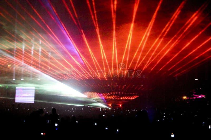 Partito di esposizione del laser immagini stock