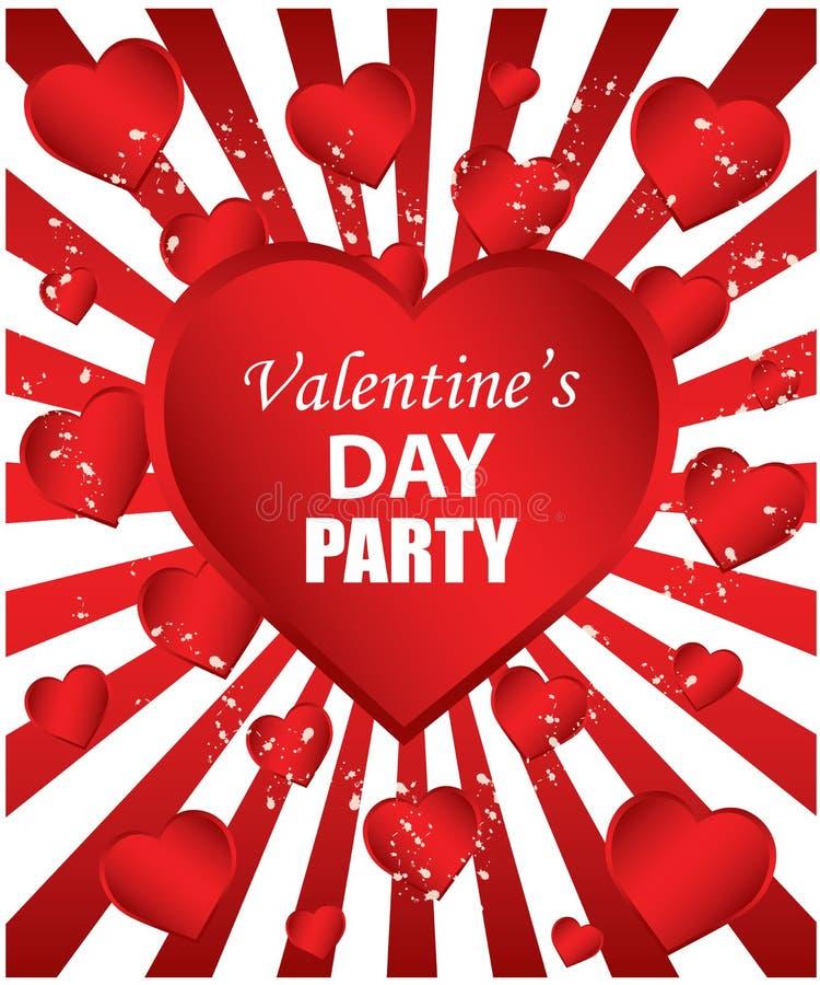 Partito di giorno del biglietto di S. Valentino illustrazione di stock