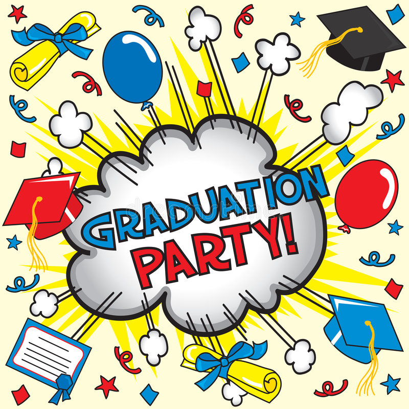 Partito di graduazione! illustrazione di stock