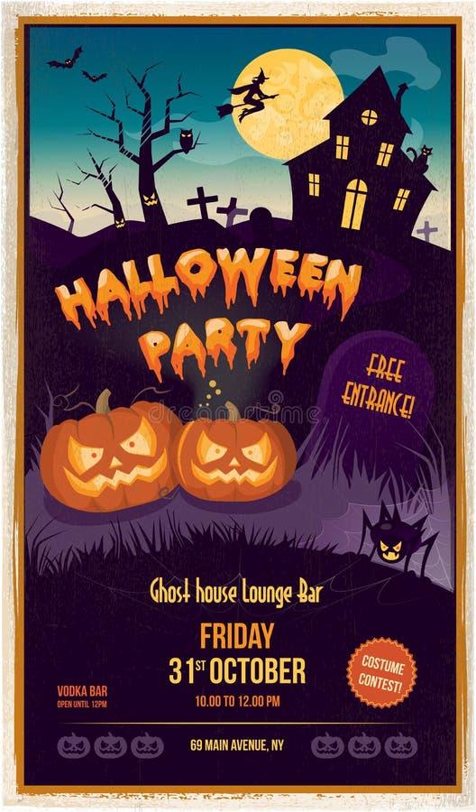 Partito di Halloween illustrazione vettoriale