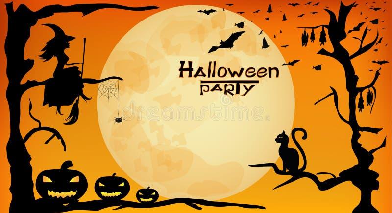 Partito di Halloween illustrazione di stock