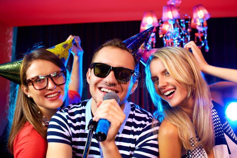 Partito di karaoke immagini stock