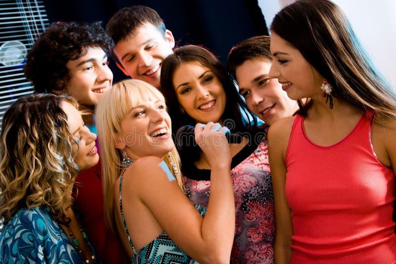 Partito di karaoke immagine stock libera da diritti