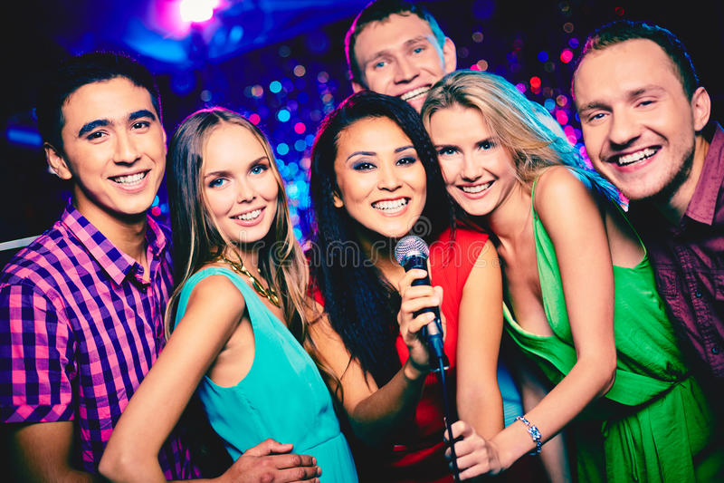Partito di karaoke fotografia stock libera da diritti