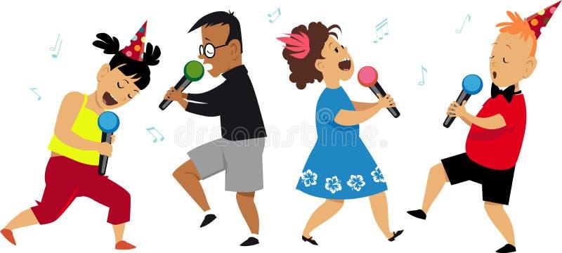 Partito di karaoke dei bambini royalty illustrazione gratis