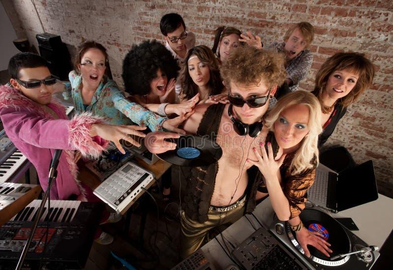 partito di musica della discoteca degli anni 70 immagine stock libera da diritti
