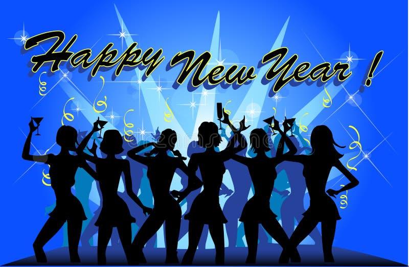 Partito di nuovo anno royalty illustrazione gratis