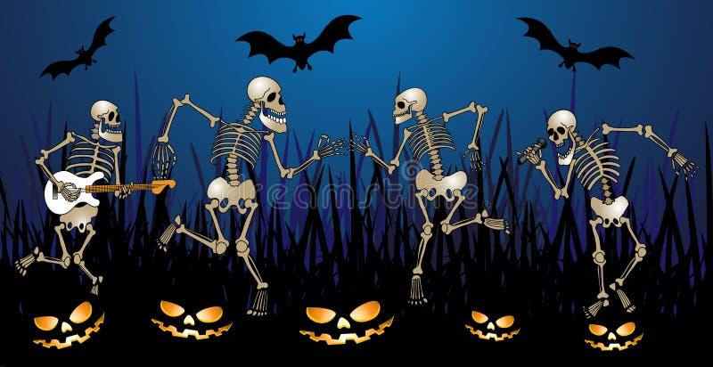 Partito di scheletro illustrazione vettoriale