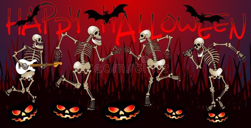 Partito di scheletro rad illustrazione di stock
