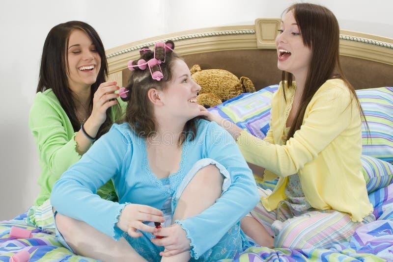 Partito di Slumber teenager di bellezza immagini stock libere da diritti