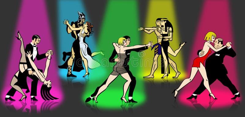 Partito di tango di tutte le volte fotografia stock libera da diritti