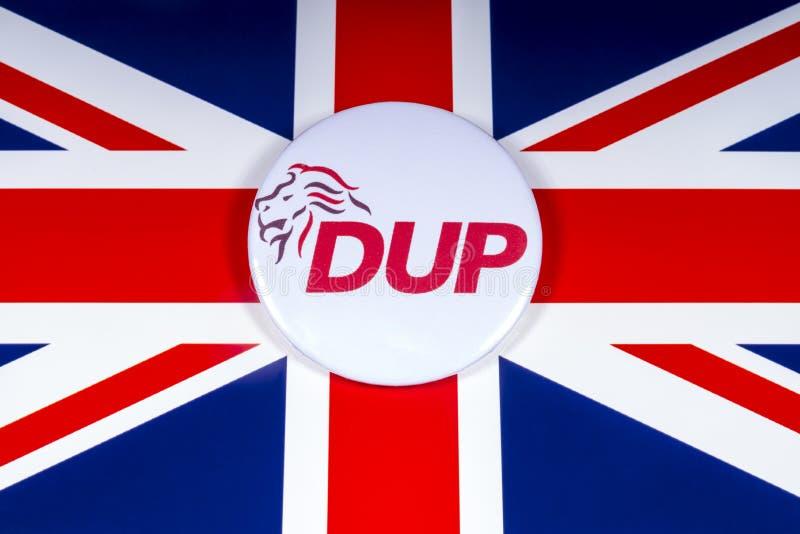 Partito di unionista democratico e la bandiera BRITANNICA fotografie stock